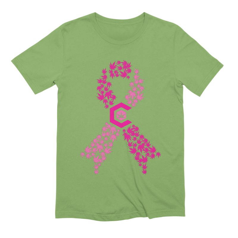 TMCC Pink Ribbon Men's Extra Soft T-Shirt by The Medical Cannabis Community