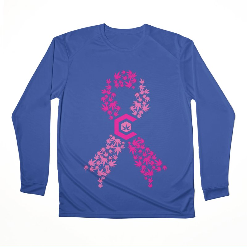 TMCC Pink Ribbon Men's Performance Longsleeve T-Shirt by The Medical Cannabis Community