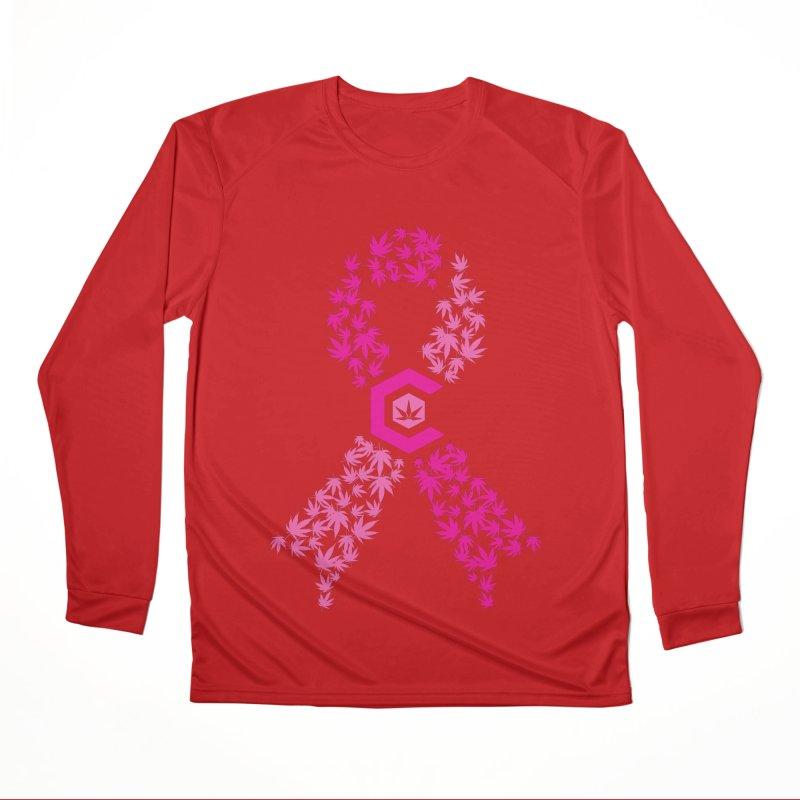 TMCC Pink Ribbon Men's Longsleeve T-Shirt by The Medical Cannabis Community