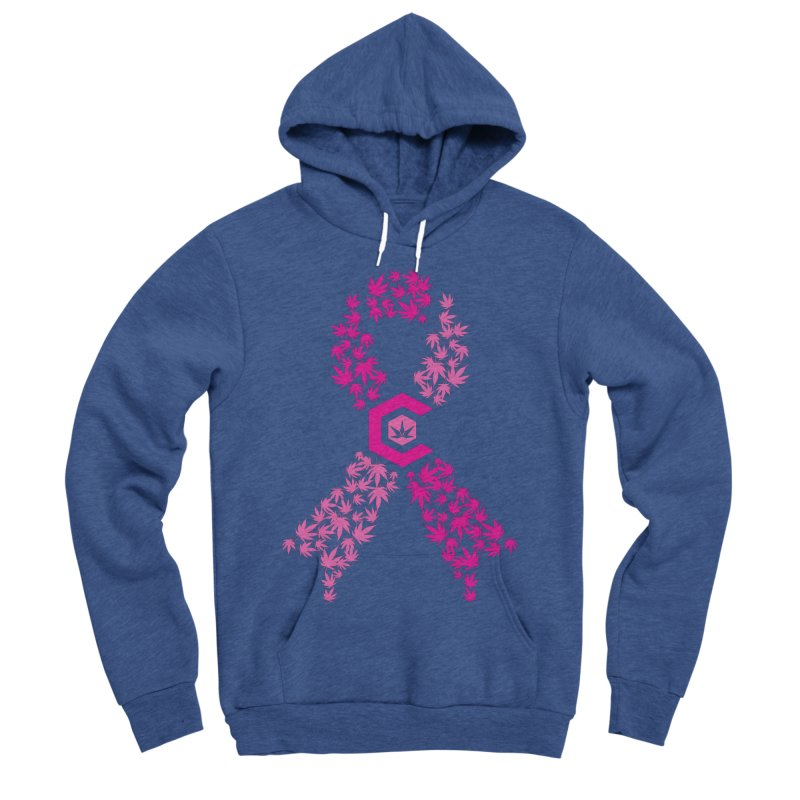 TMCC Pink Ribbon Women's Sponge Fleece Pullover Hoody by The Medical Cannabis Community
