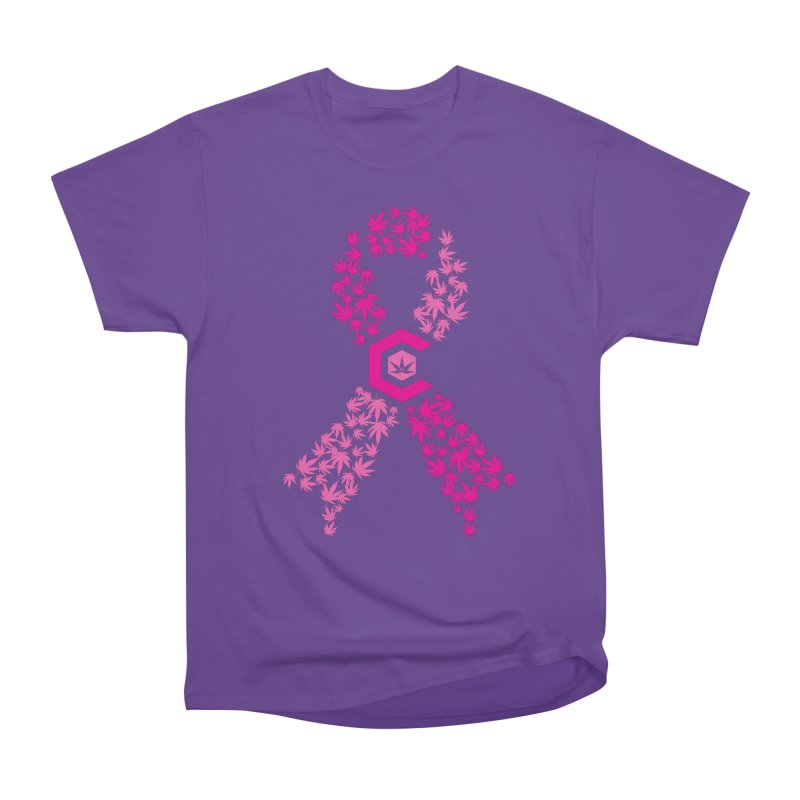 TMCC Pink Ribbon Women's Heavyweight Unisex T-Shirt by The Medical Cannabis Community