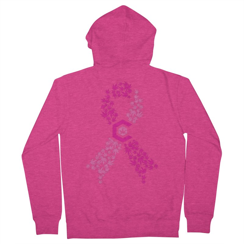 TMCC Pink Ribbon Women's French Terry Zip-Up Hoody by The Medical Cannabis Community