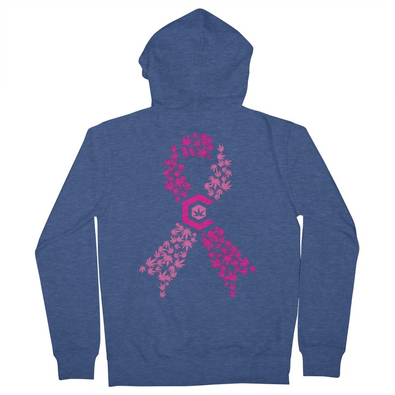 TMCC Pink Ribbon Men's French Terry Zip-Up Hoody by The Medical Cannabis Community