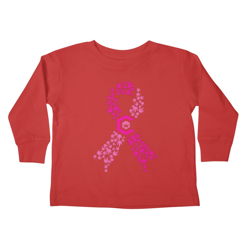 TMCC Pink Ribbon Kids Toddler Longsleeve T-Shirt by The Medical Cannabis Community