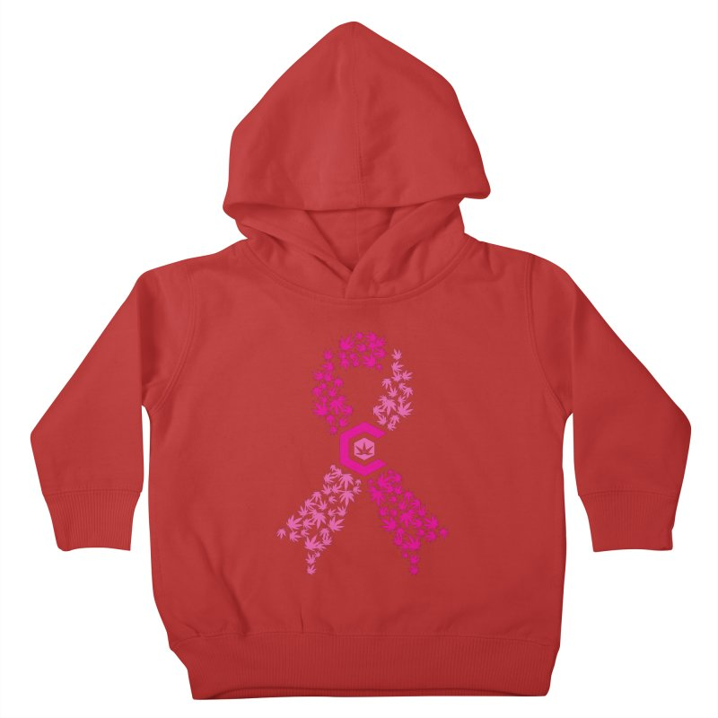 TMCC Pink Ribbon Kids Toddler Pullover Hoody by The Medical Cannabis Community