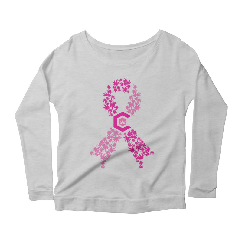 TMCC Pink Ribbon Women's Scoop Neck Longsleeve T-Shirt by The Medical Cannabis Community