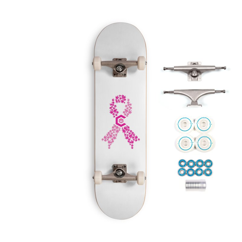 TMCC Pink Ribbon Accessories Complete - Basic Skateboard by The Medical Cannabis Community