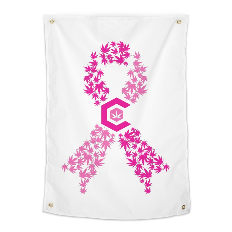 TMCC Pink Ribbon Home Tapestry by The Medical Cannabis Community