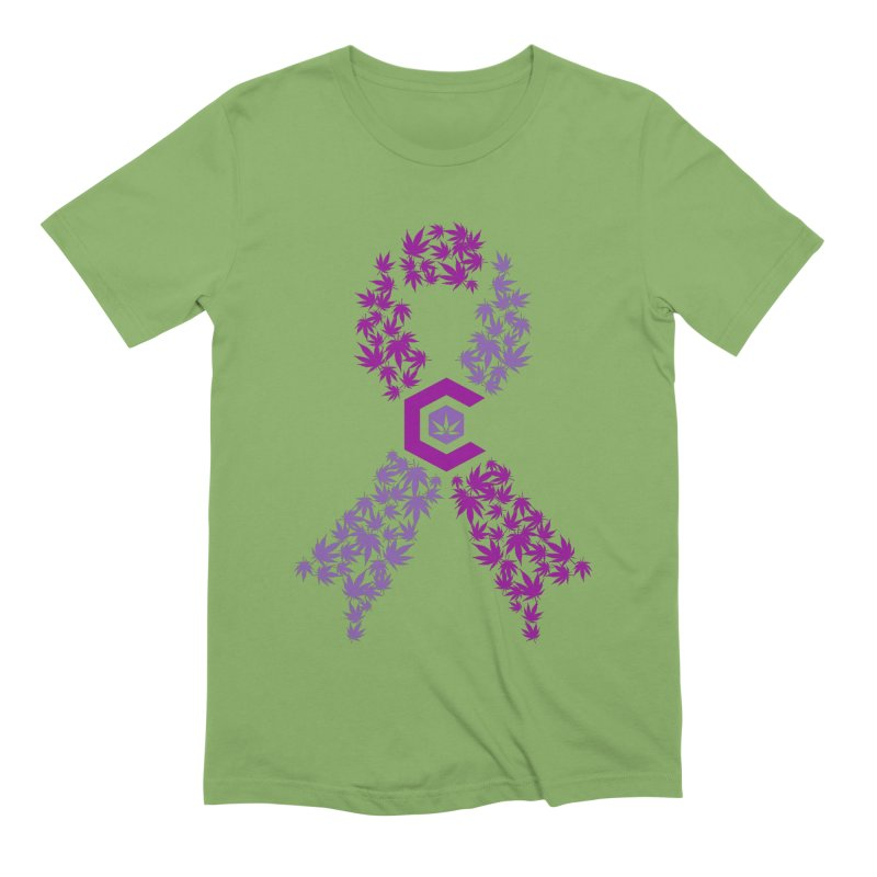 TMCC Purple Ribbon Men's Extra Soft T-Shirt by The Medical Cannabis Community
