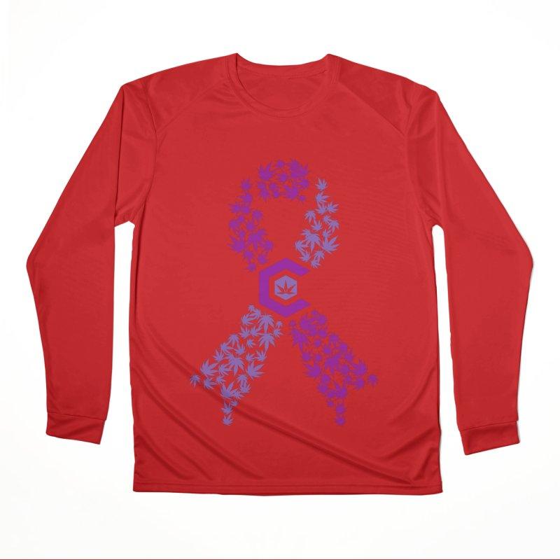 TMCC Purple Ribbon Men's Performance Longsleeve T-Shirt by The Medical Cannabis Community