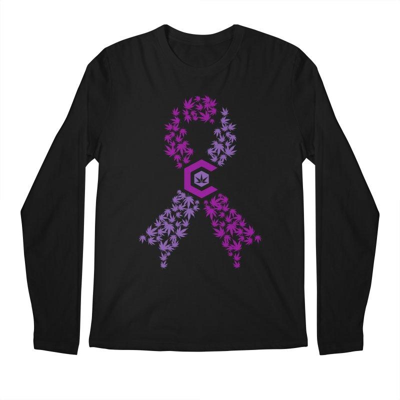 TMCC Purple Ribbon Men's Regular Longsleeve T-Shirt by The Medical Cannabis Community