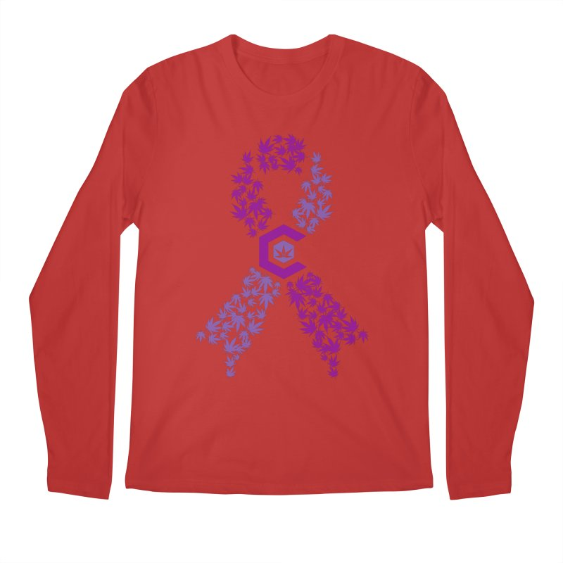 TMCC Purple Ribbon Men's Regular Longsleeve T-Shirt by The Medical Cannabis Community