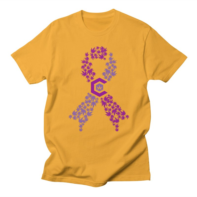 TMCC Purple Ribbon Women's Regular Unisex T-Shirt by The Medical Cannabis Community
