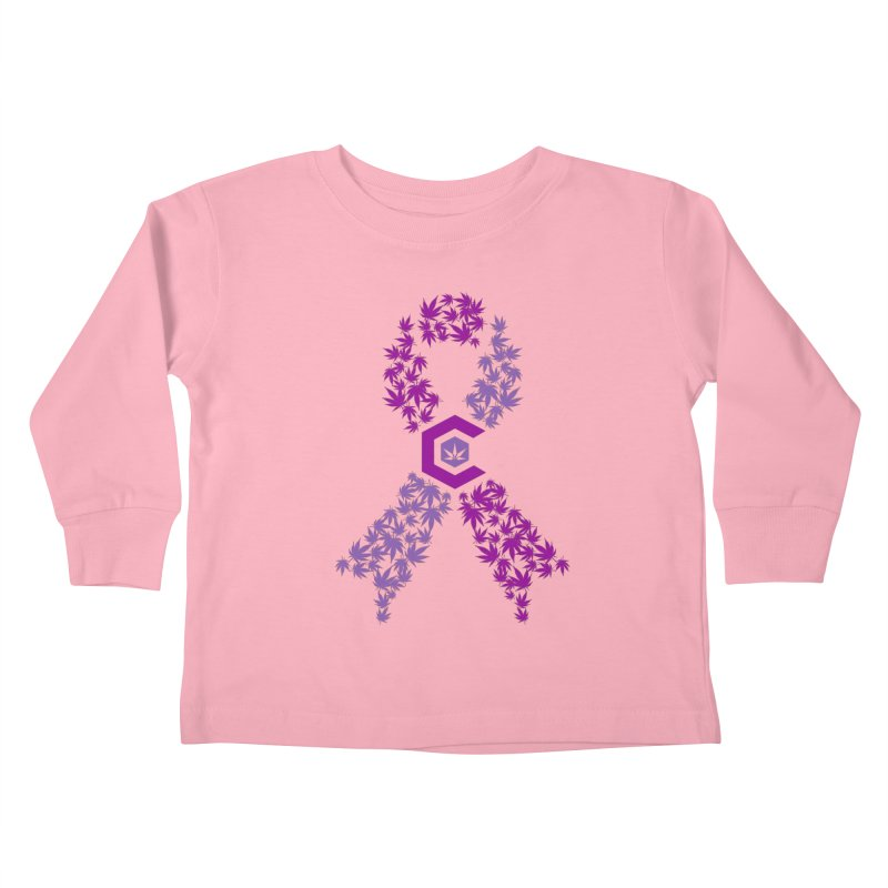 TMCC Purple Ribbon Kids Toddler Longsleeve T-Shirt by The Medical Cannabis Community