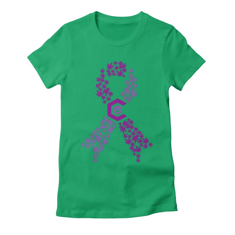 TMCC Purple Ribbon Women's Fitted T-Shirt by The Medical Cannabis Community