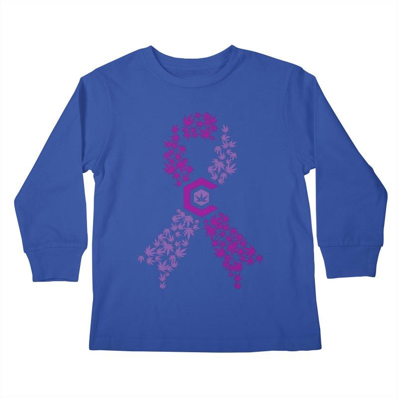 TMCC Purple Ribbon Kids Longsleeve T-Shirt by The Medical Cannabis Community