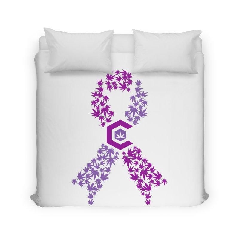 TMCC Purple Ribbon Home Duvet by The Medical Cannabis Community