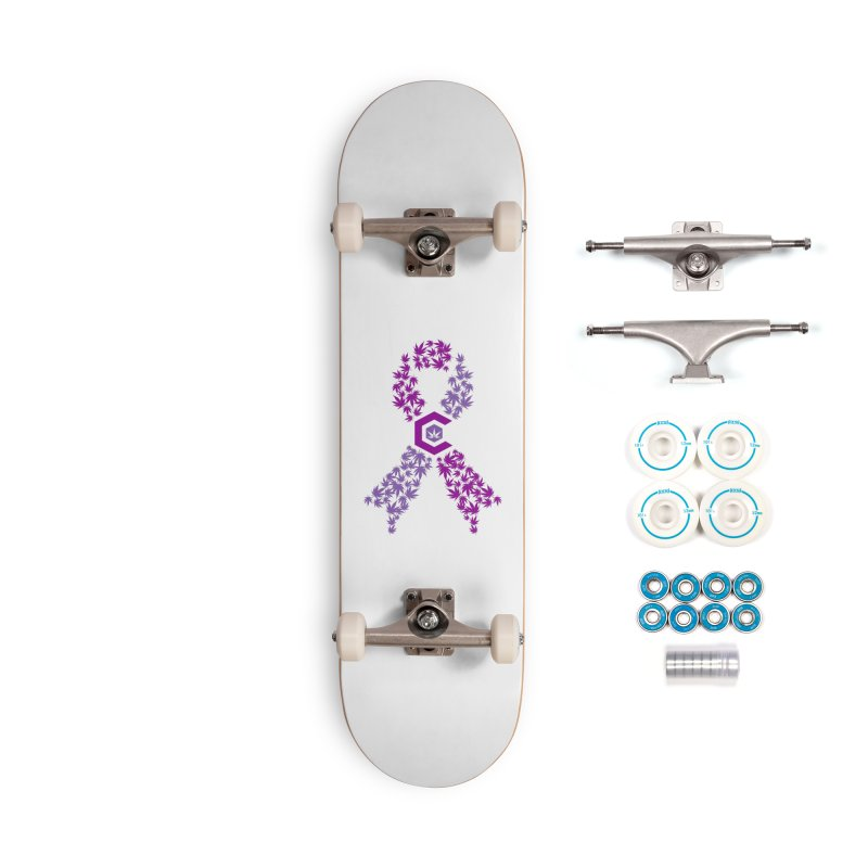TMCC Purple Ribbon Accessories Complete - Basic Skateboard by The Medical Cannabis Community