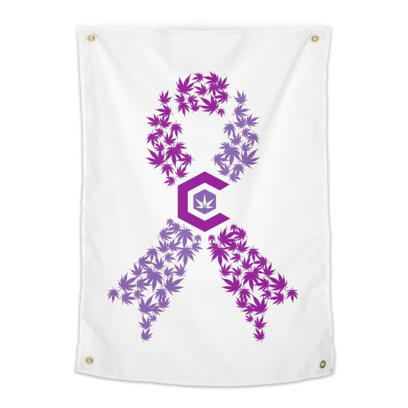 TMCC Purple Ribbon Home Tapestry by The Medical Cannabis Community