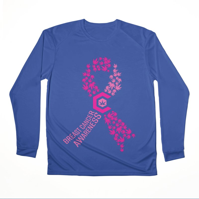 TMCC Breast Cancer Awareness Women's Performance Unisex Longsleeve T-Shirt by The Medical Cannabis Community