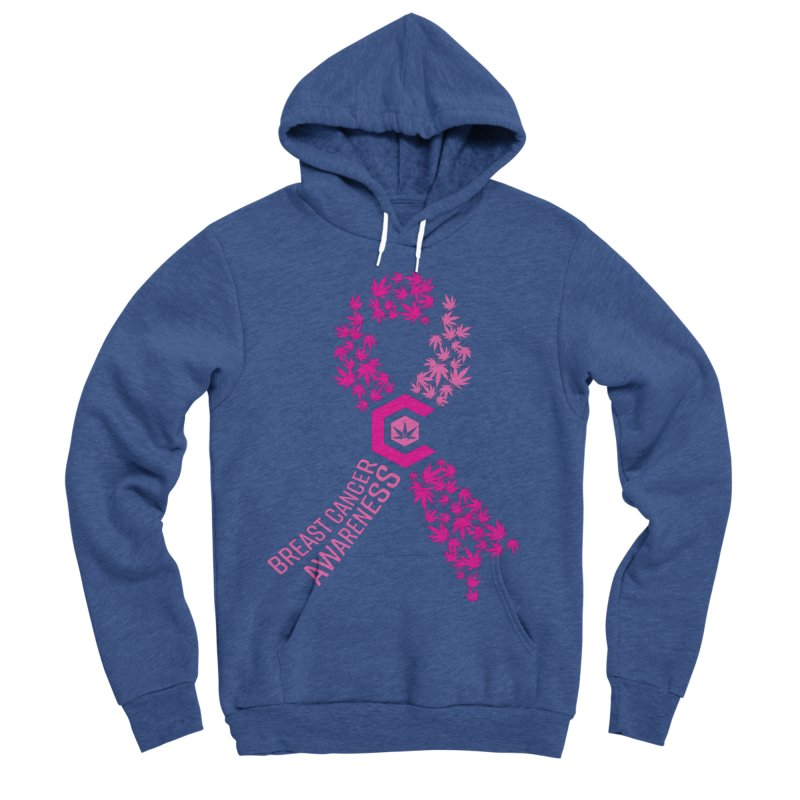 TMCC Breast Cancer Awareness Women's Sponge Fleece Pullover Hoody by The Medical Cannabis Community