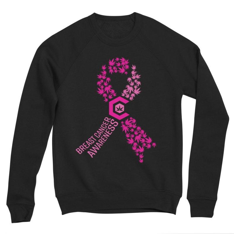TMCC Breast Cancer Awareness Men's Sponge Fleece Sweatshirt by The Medical Cannabis Community
