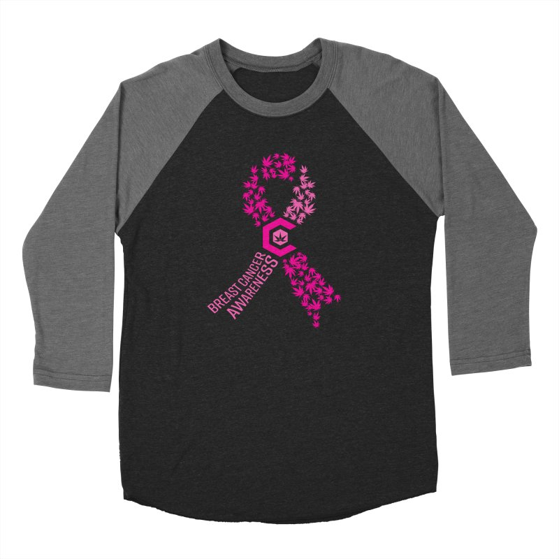 TMCC Breast Cancer Awareness Women's Baseball Triblend Longsleeve T-Shirt by The Medical Cannabis Community
