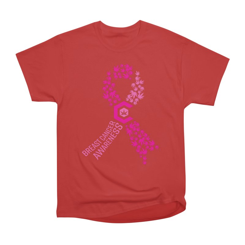 TMCC Breast Cancer Awareness Women's Heavyweight Unisex T-Shirt by The Medical Cannabis Community