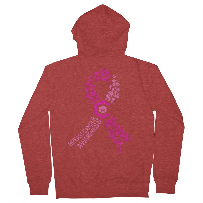 TMCC Breast Cancer Awareness Women's French Terry Zip-Up Hoody by The Medical Cannabis Community