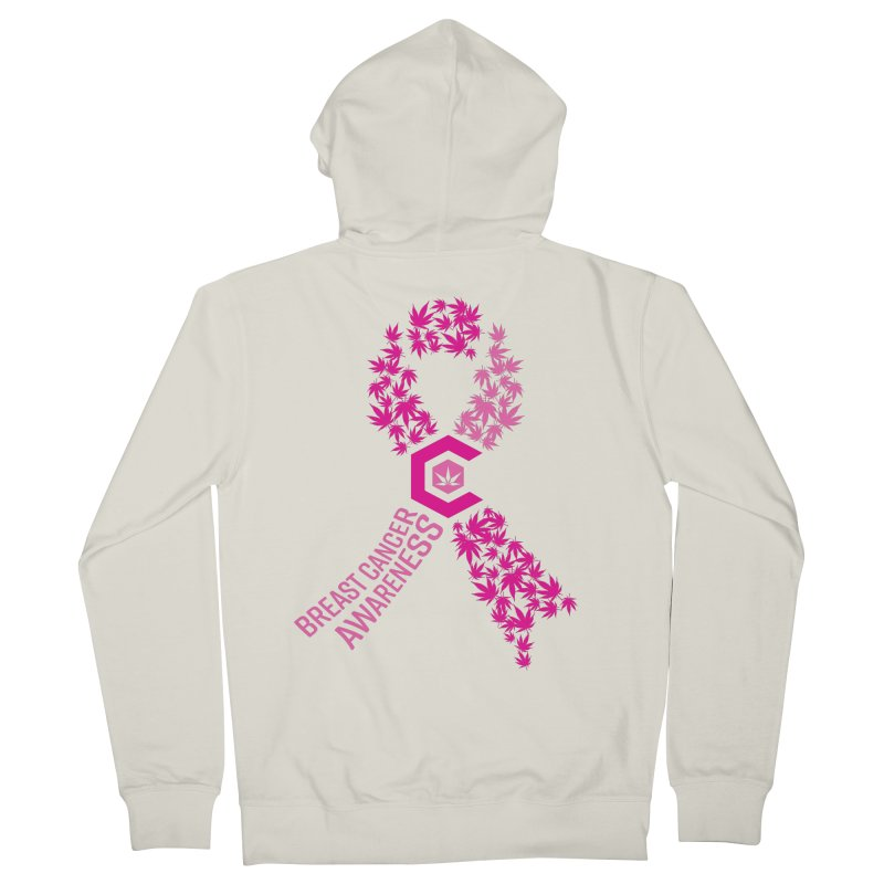 TMCC Breast Cancer Awareness Men's French Terry Zip-Up Hoody by The Medical Cannabis Community
