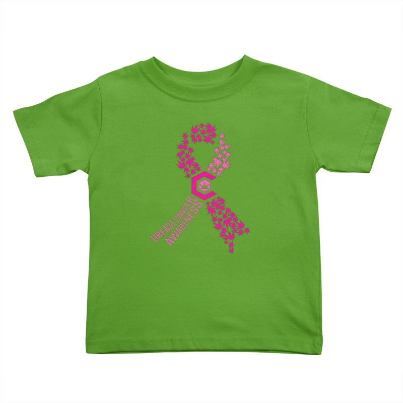 TMCC Breast Cancer Awareness Kids Toddler T-Shirt by The Medical Cannabis Community