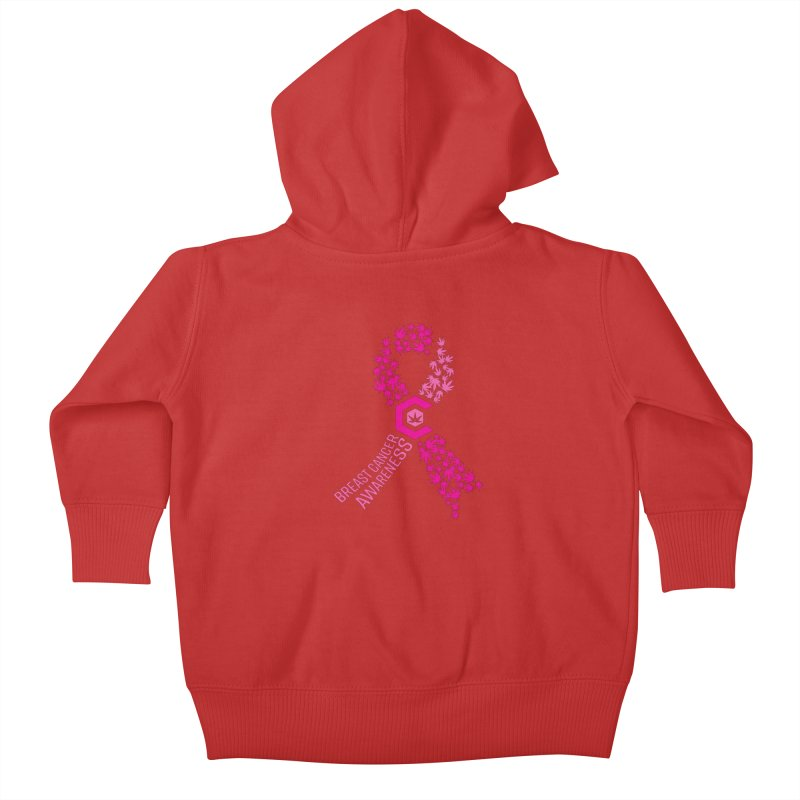 TMCC Breast Cancer Awareness Kids Baby Zip-Up Hoody by The Medical Cannabis Community