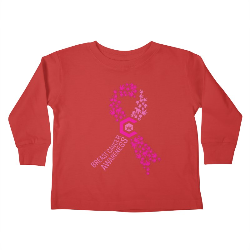 TMCC Breast Cancer Awareness Kids Toddler Longsleeve T-Shirt by The Medical Cannabis Community