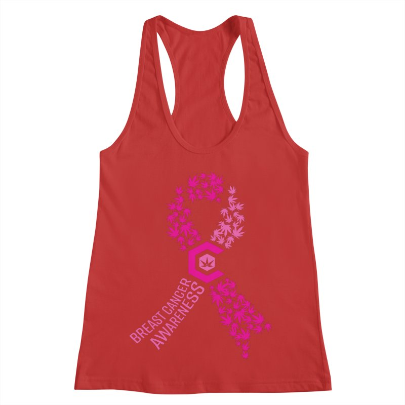TMCC Breast Cancer Awareness Women's Racerback Tank by The Medical Cannabis Community