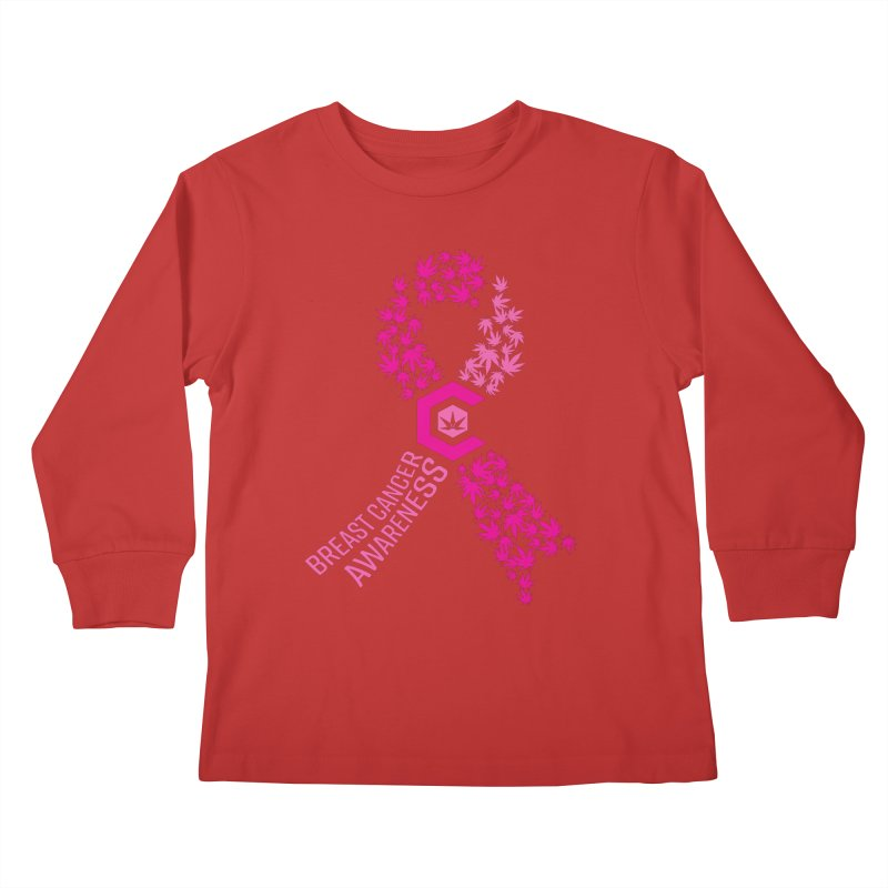 TMCC Breast Cancer Awareness Kids Longsleeve T-Shirt by The Medical Cannabis Community