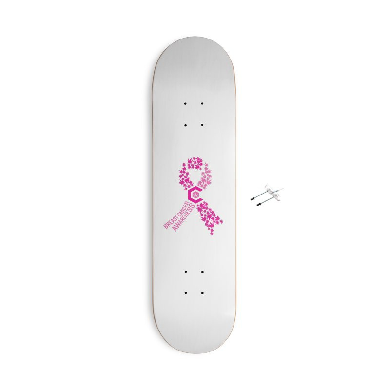 TMCC Breast Cancer Awareness Accessories With Hanging Hardware Skateboard by The Medical Cannabis Community