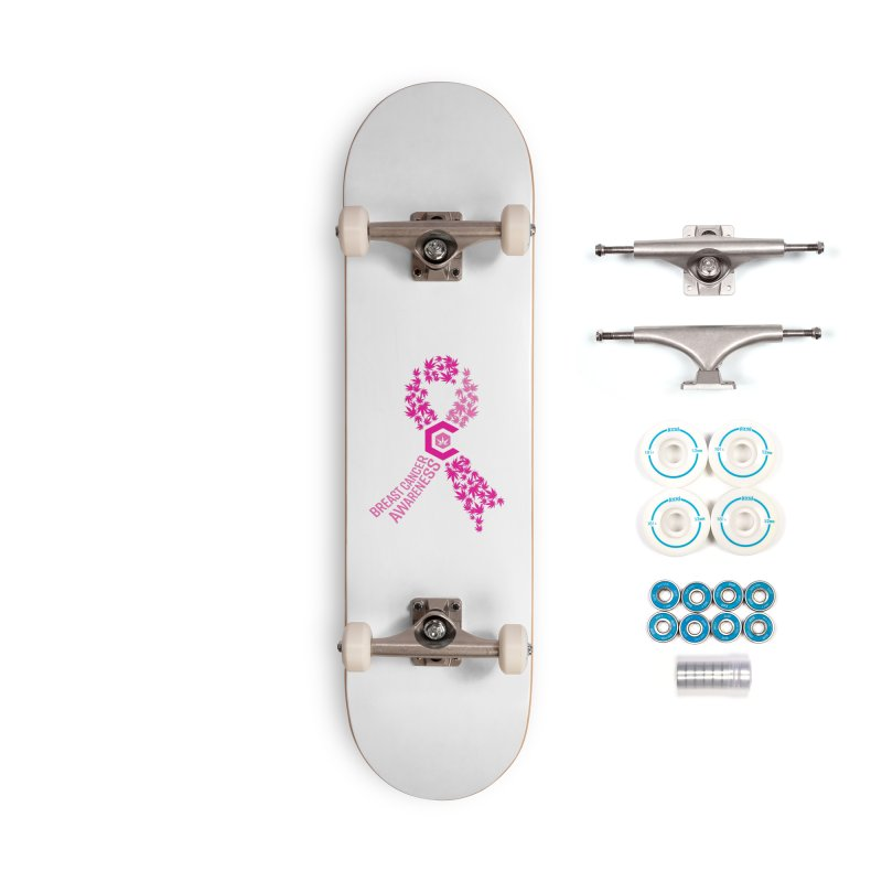TMCC Breast Cancer Awareness Accessories Complete - Basic Skateboard by The Medical Cannabis Community