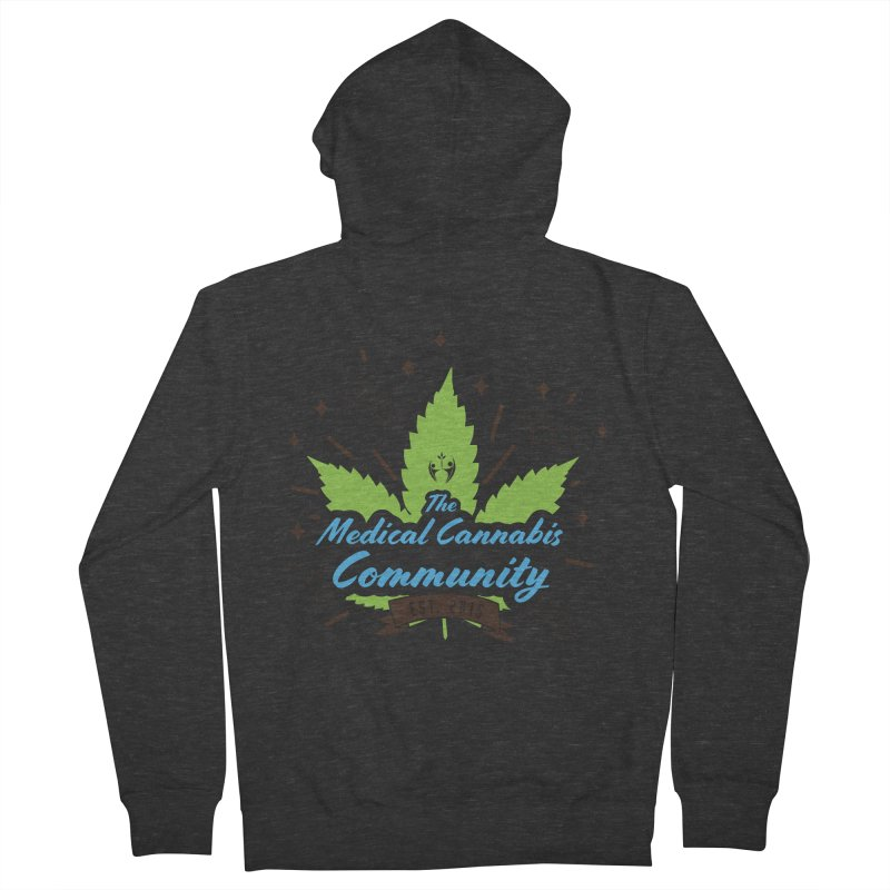 The Medical Cannabis Community EST.2015 Men's French Terry Zip-Up Hoody by The Medical Cannabis Community
