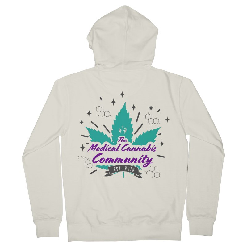 The Medical Cannabis Community EST.2015 Teal Men's French Terry Zip-Up Hoody by The Medical Cannabis Community