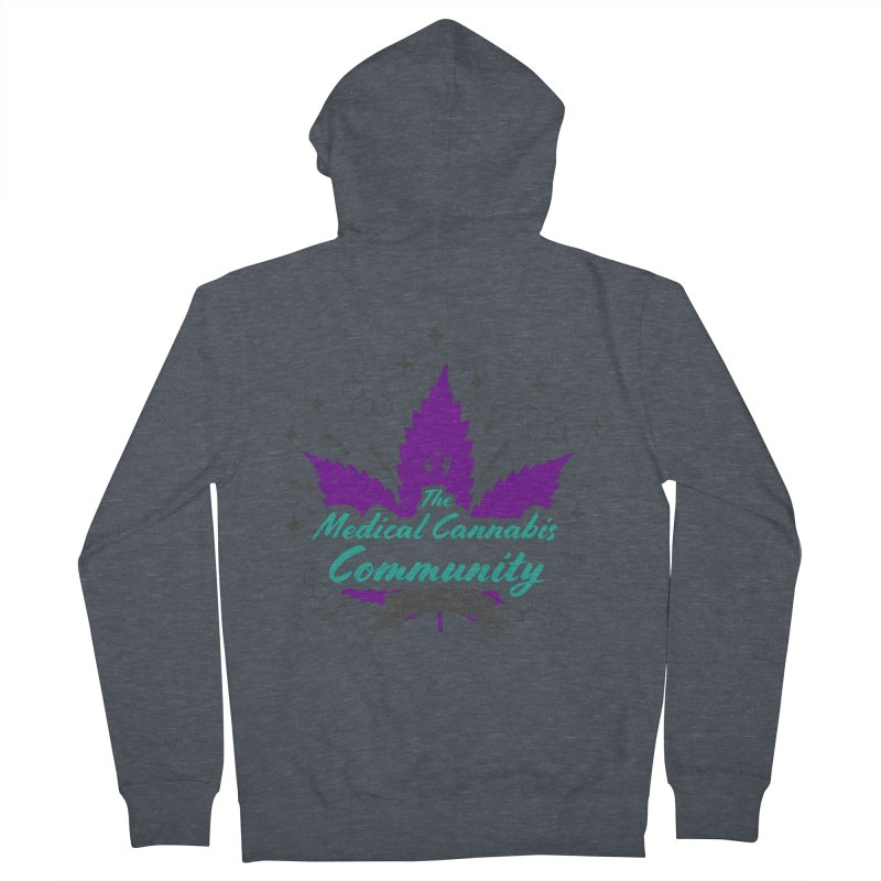 The Medical Cannabis Community EST.2015 Purple Men's French Terry Zip-Up Hoody by The Medical Cannabis Community