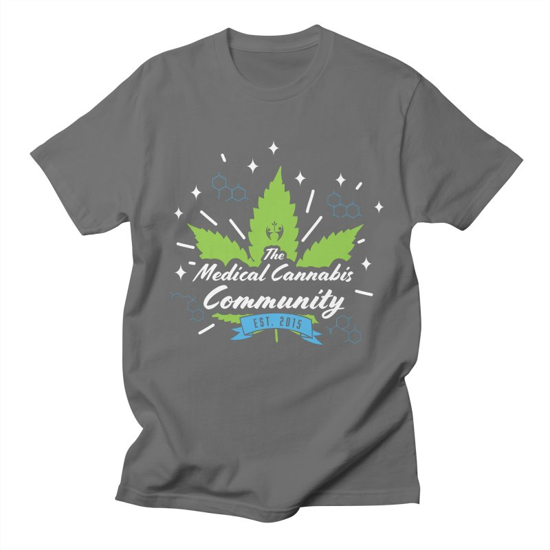 The Medical Cannabis Community EST.2015 Brown Men's T-Shirt by The Medical Cannabis Community