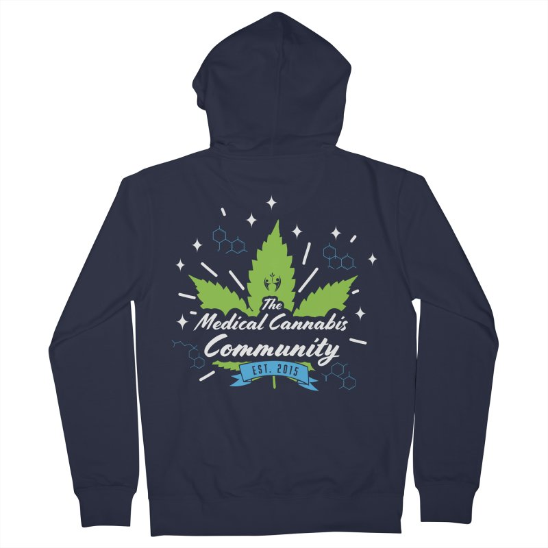 The Medical Cannabis Community EST.2015 Brown Men's French Terry Zip-Up Hoody by The Medical Cannabis Community