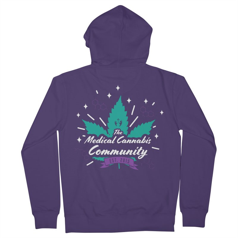 The Medical Cannabis Community EST. 2015 Gray/Teal Women's Zip-Up Hoody by The Medical Cannabis Community