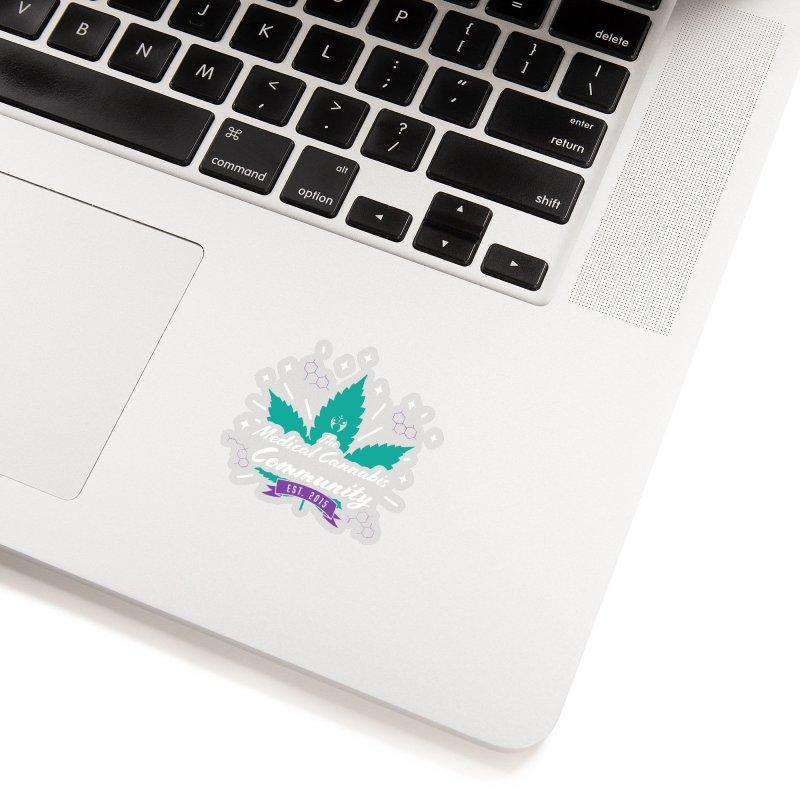 The Medical Cannabis Community EST. 2015 Gray/Teal Accessories Sticker by The Medical Cannabis Community