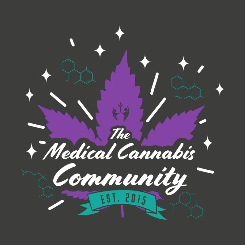 The Medical Cannabis Community EST.2015 Gray/Purple by The Medical Cannabis Community