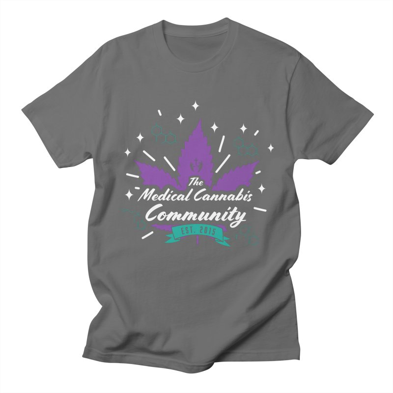 The Medical Cannabis Community EST.2015 Gray/Purple Men's T-Shirt by The Medical Cannabis Community