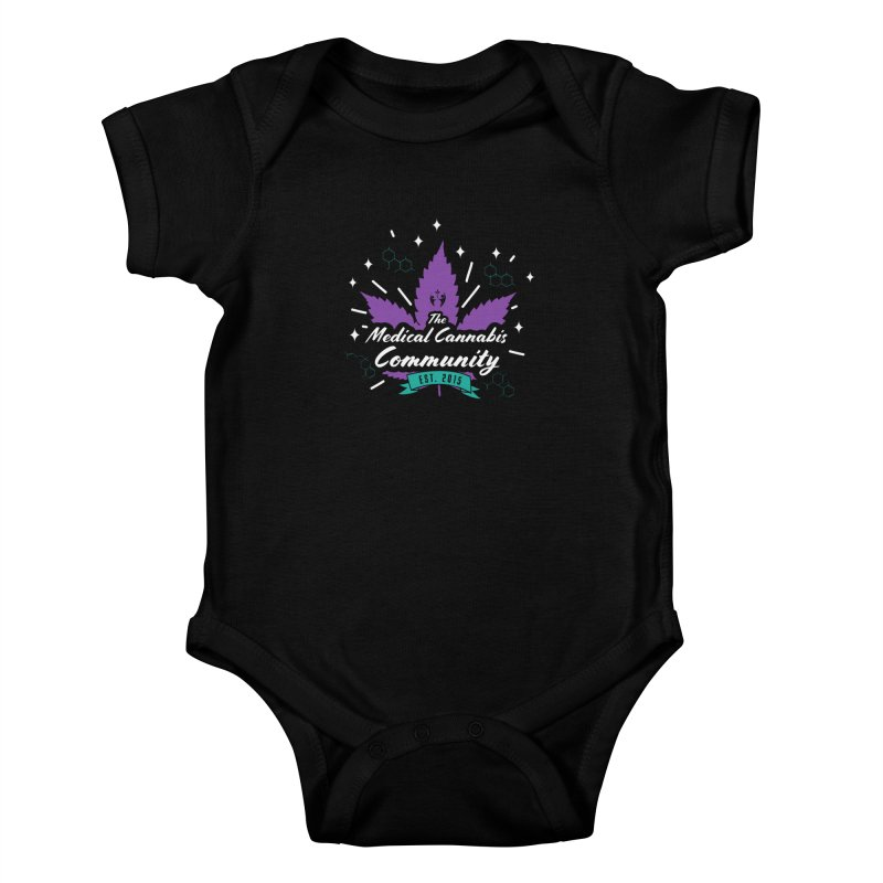 The Medical Cannabis Community EST.2015 Gray/Purple Kids Baby Bodysuit by The Medical Cannabis Community
