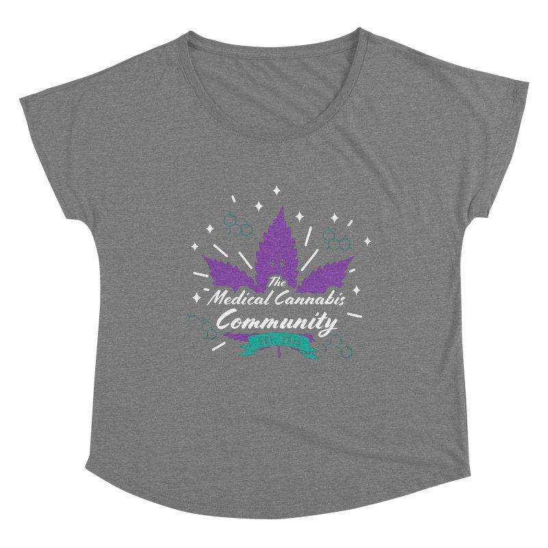 The Medical Cannabis Community EST.2015 Gray/Purple Women's Scoop Neck by The Medical Cannabis Community