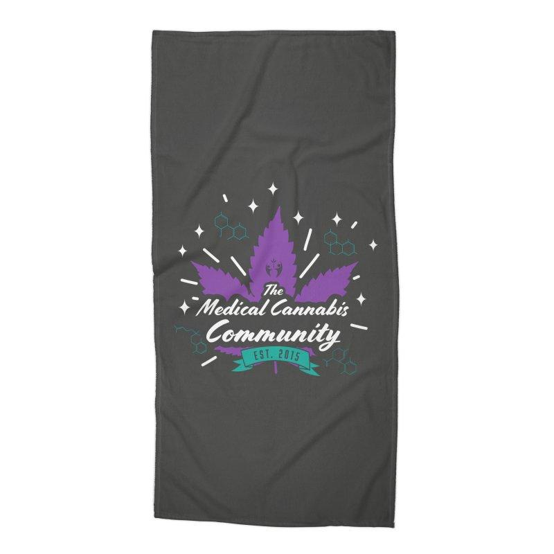 The Medical Cannabis Community EST.2015 Gray/Purple Accessories Beach Towel by The Medical Cannabis Community