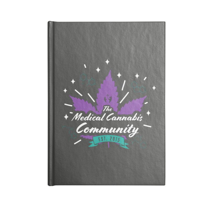 The Medical Cannabis Community EST.2015 Gray/Purple Accessories Blank Journal Notebook by The Medical Cannabis Community